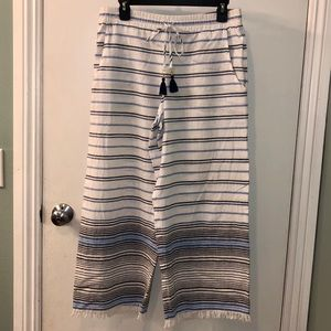 Tommy Bahama Pants & Jumpsuits - TOMMY BAHAMA Stripe Cropped Beach Pants Size SMALL